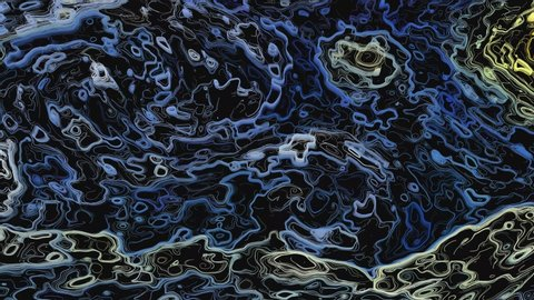 Abstract 2D line art animation inspired by Van Gogh.  Stsr night motion graphic texture design