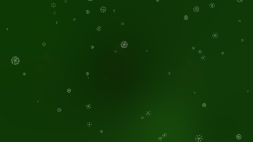 Three Magical Trees Appearing with Snow Flakes In Dark Green | Shutterstock HD Video #1029717413