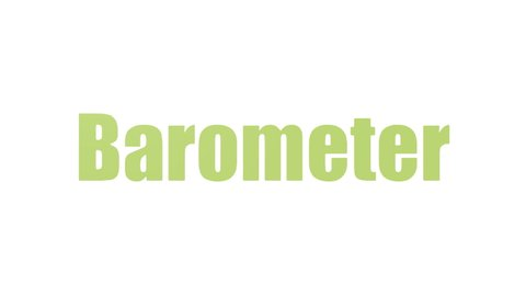 Barometer Word Cloud Animated On White Background