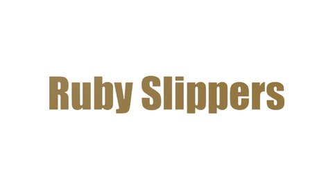Ruby Slippers Tag Cloud Animated Isolated On White
