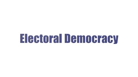 Electoral Democracy Wordcloud Animated Isolated On White