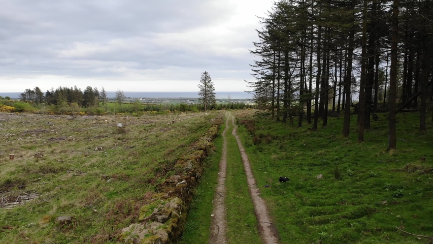 Arial footage of landscape in ireland | Shutterstock HD Video #1029830333