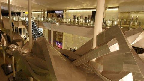 HEATHROW, LONDON, UNITED KINGDOM – DECEMBER 6 2017. Heathrow Terminal 2, also known as The Queen's Terminal, is an airport terminal at Heathrow Airport, the main airport serving London, United Kingdom
