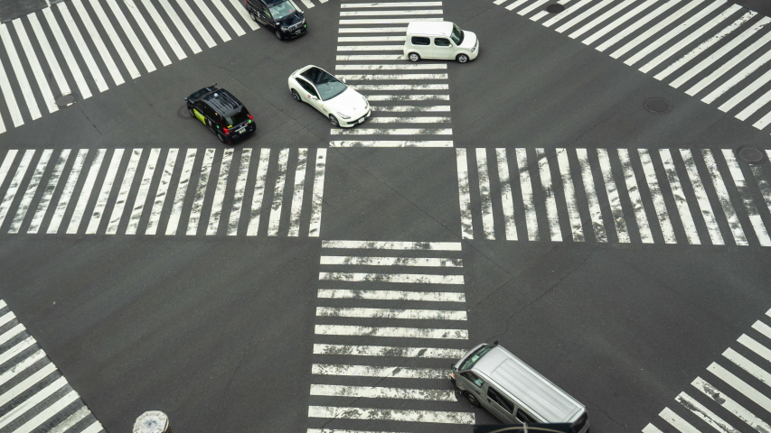 Time lapse of busy intersection in Ginza, Tokyo, Japan. zoom in. | Shutterstock HD Video #1029924713