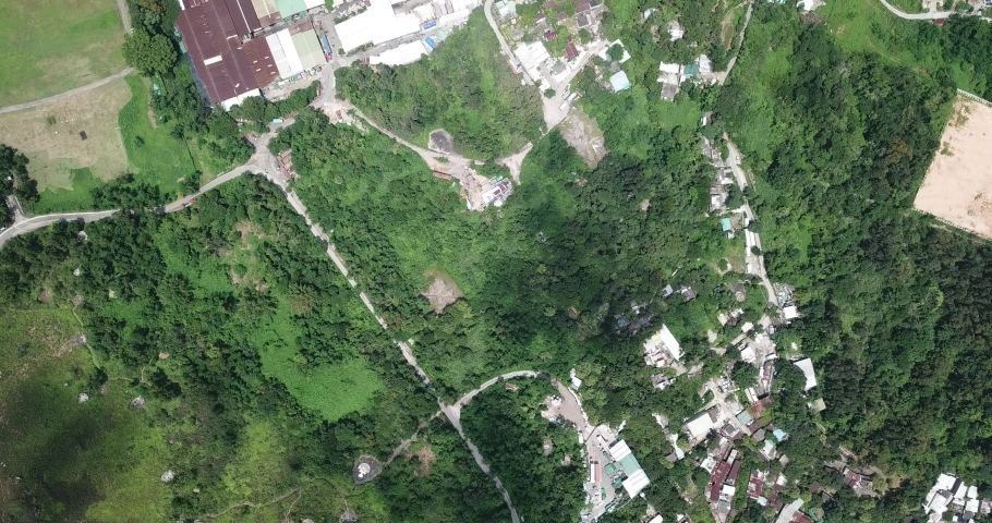 Aerial view  of village in New Territories in Hong Kong. | Shutterstock HD Video #1029937583