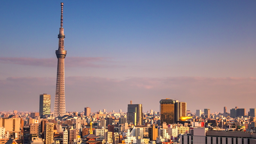 4K. Time lapse view of Tokyo city  in japan | Shutterstock HD Video #1029971813