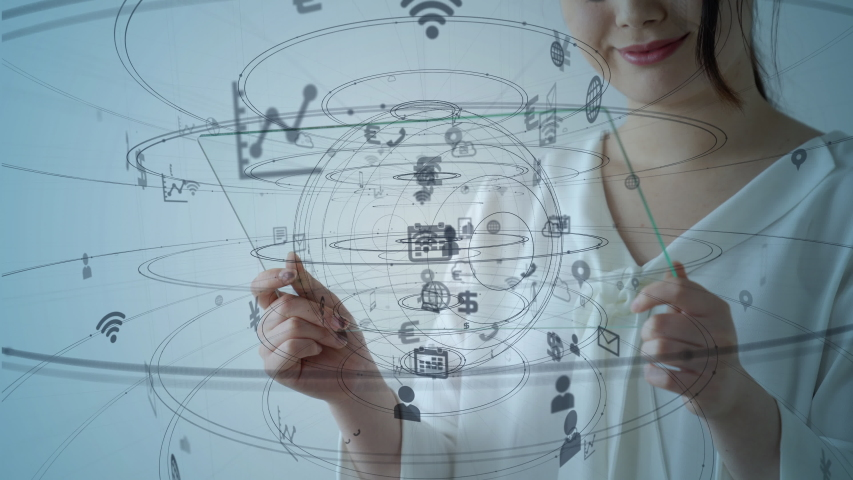 IoT (Internet of Things) concept. Communication network. | Shutterstock HD Video #1030097903