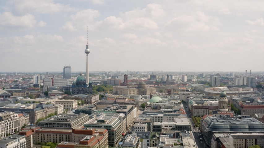 Aerial view. Cityscape of Berlin | Shutterstock HD Video #1030257233