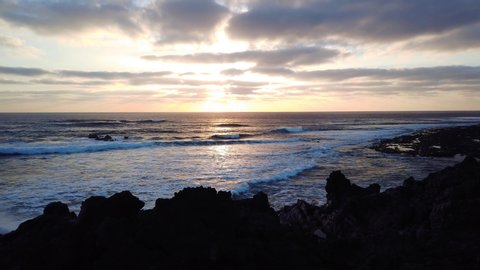 Lanzarote Ocean Sunset El Golfo