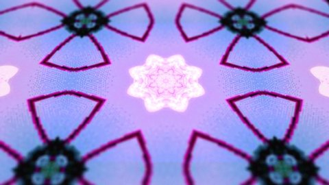 blue kaleidoscope sequence pattern. 2k Abstract multicolored motion graphics background. fOr for yoga, shows, mandala, fractal animation. Beautiful bright ornament. Seamless loop.