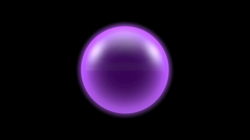 3D animation of movement of glowing purple balls in the dark space. | Shutterstock HD Video #1030763123