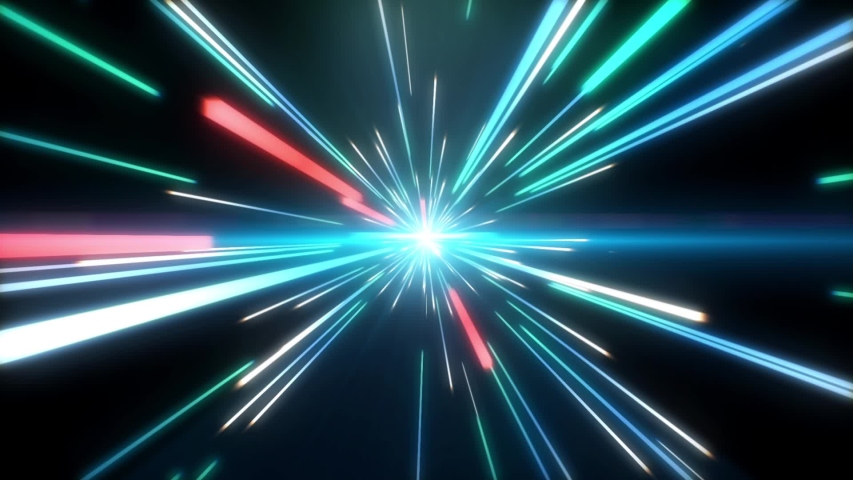 Blue and Red Light Streaks, Futuristic, Speed Motion, Flare, Abstract Background. | Shutterstock HD Video #1030782533