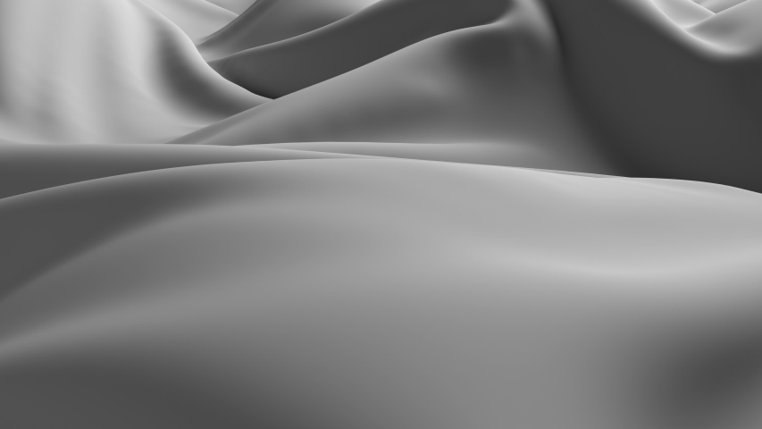 3d render smooth background with cloth deformation and folding. Elegant beautiful simple surface. Loopable animation. | Shutterstock HD Video #1030812293
