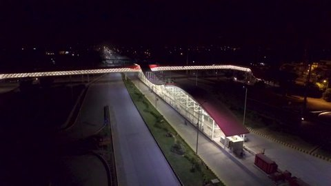 Islamabad, Pakistan - 08 12 2018: Islamabad, Pakistan: 12 AUG 2018 - New metro train station opens up to the public in Islamabad