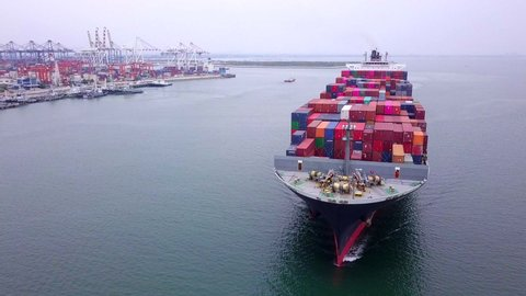 Container ship Cargo ship  deliver products in the sea