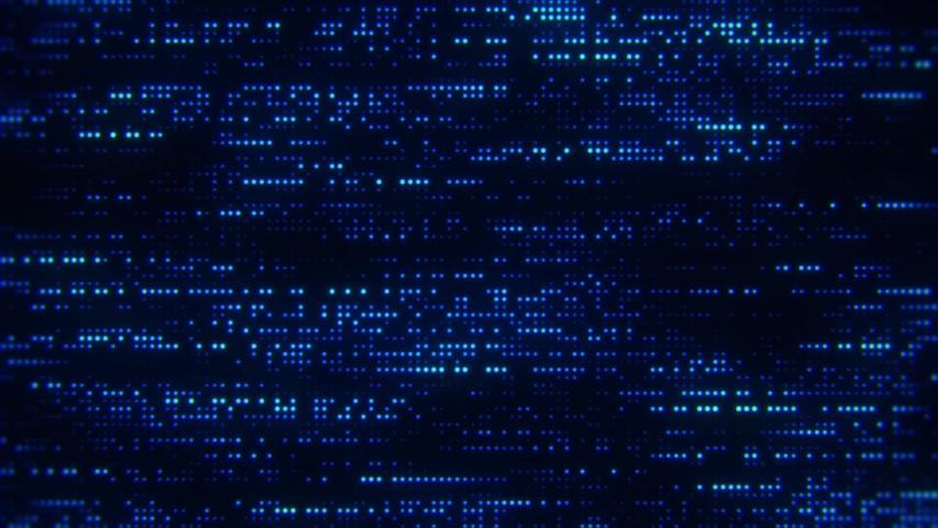 Flowing Matrix Digital Blue Dots Loop Motion Background | Shutterstock HD Video #1031396783