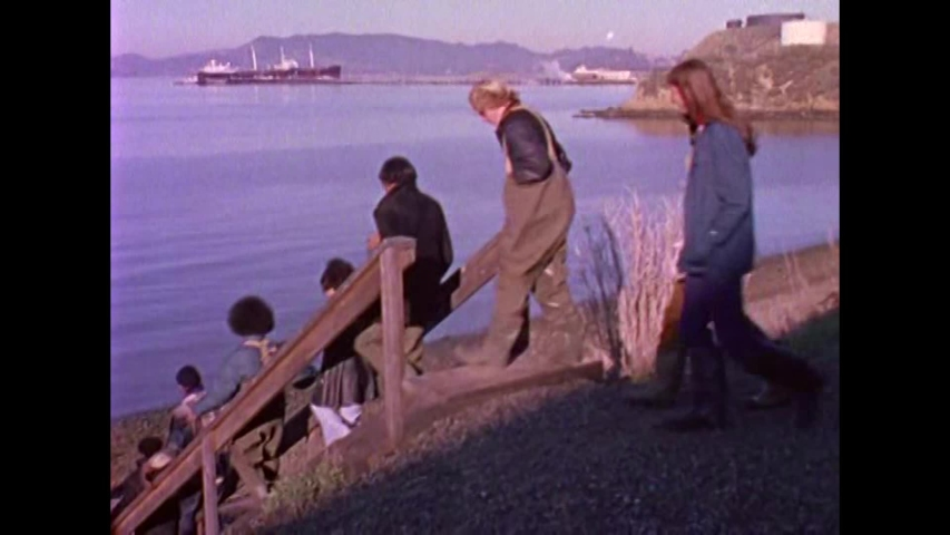 CIRCA 1970s - Kids in San Francisco study the ocean environment in the 1970's.