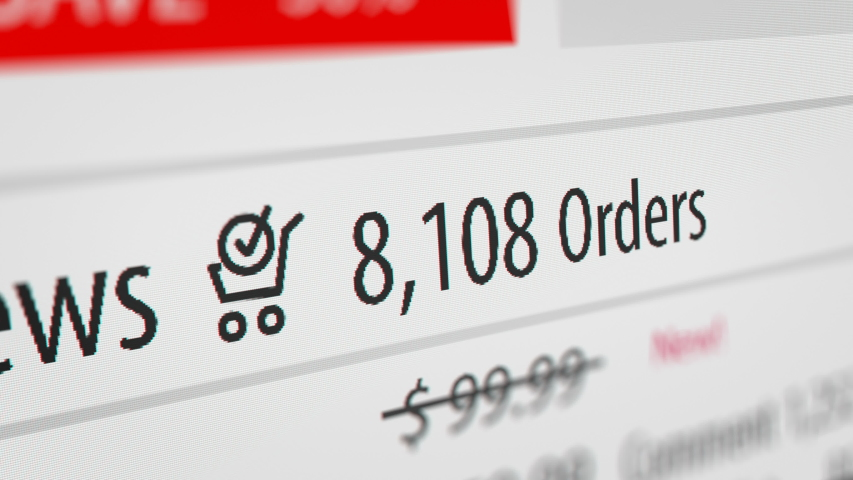 Animated Number Counter of Orders in Online Shopping Website  | Shutterstock HD Video #1031655893