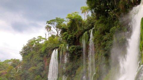 The amazing Iguazu Falls on the border of Argentina and Brazil.