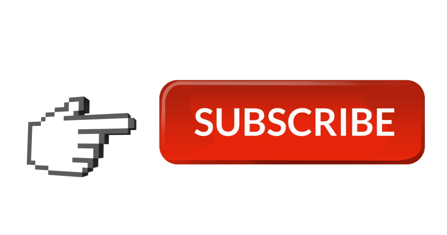 Digital animation of red subscription button with moving pointing hand icon on the left on white background 4k | Shutterstock HD Video #1031922863