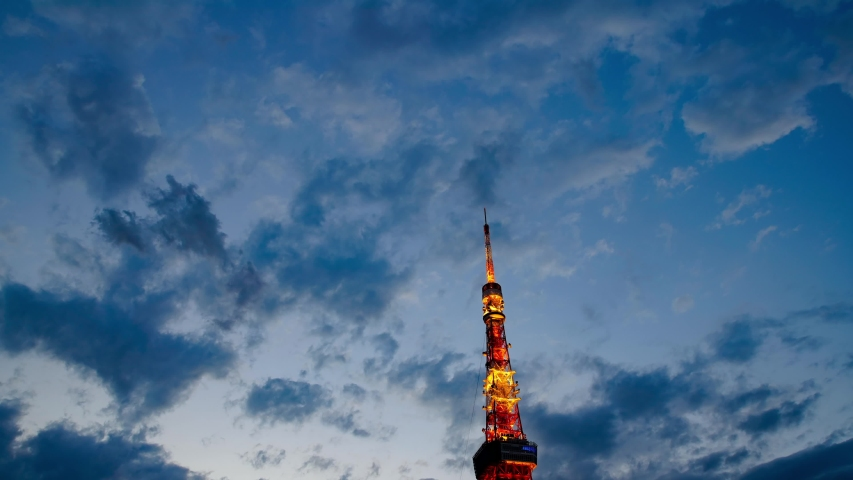 Tokyo tower evening time lapse | Shutterstock HD Video #1031931053