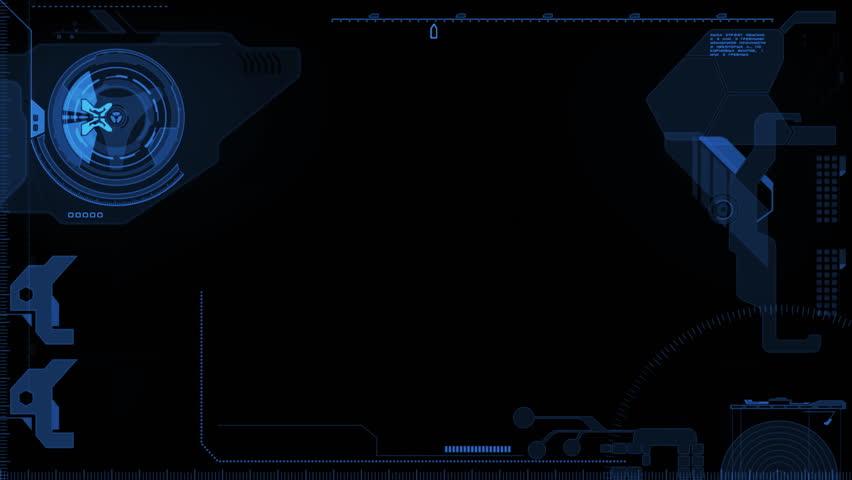 Futuristic interface screen