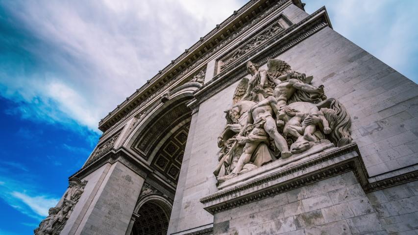 Arc de Triomphe in Paris time lapse | Shutterstock HD Video #1032652553