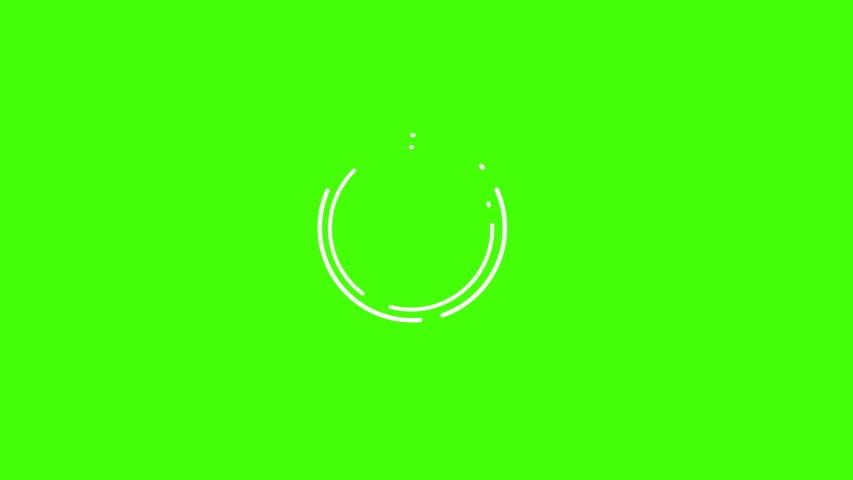 Modern flat short animations set effects elements,green screen chroma key for editors | Shutterstock HD Video #1032688373