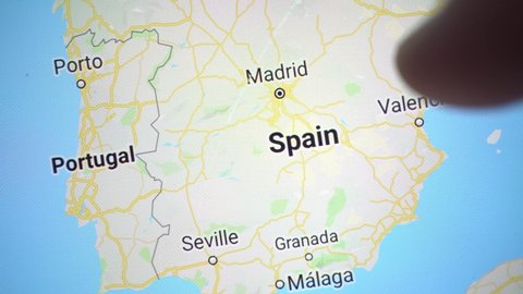 Google Map Of Spain And Portugal.Google Web Traffic Stock Video Footage 4k And Hd Video Clips