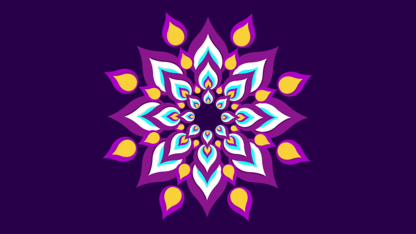 Beautiful mandala pattern for Diwali.  4k looping animation with alpha channel | Shutterstock HD Video #1032924263