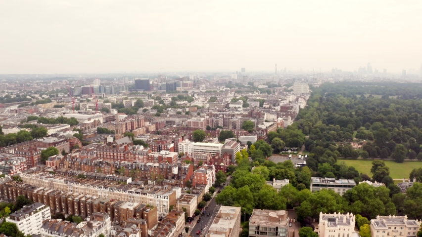 Beautiful aerial view of the Hyde Park in London.  | Shutterstock HD Video #1032969413