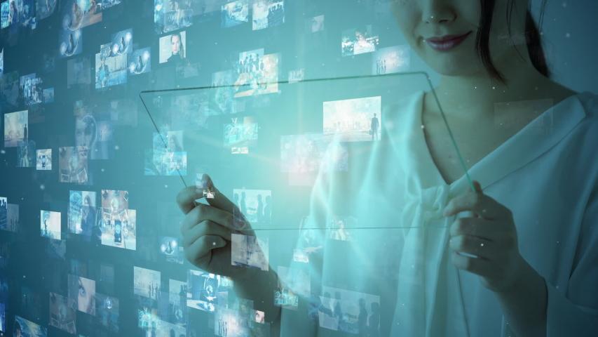 Screens of multimedia concept. Social media. Streaming video. | Shutterstock HD Video #1033004663