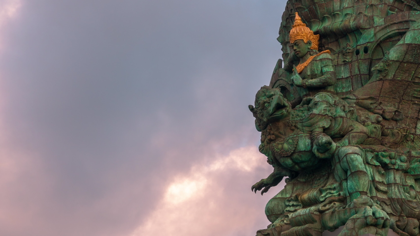 Garuda wisnu kencana statue one of the main tourist attractions and the most recognizable symbols of tropical island Bali, Indonesia | Shutterstock HD Video #1033201433