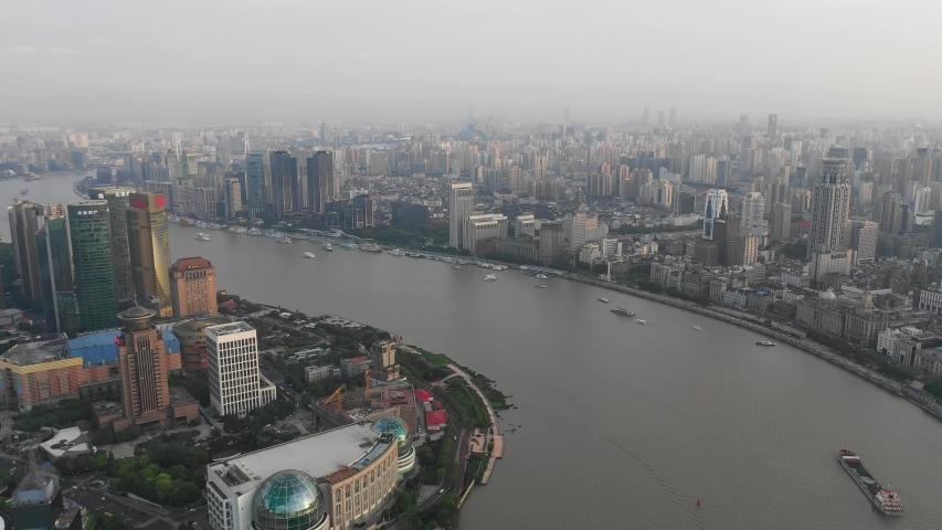 Asian China Shanghai City Architecture Scenery | Shutterstock HD Video #1033395473