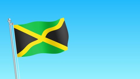 Rise of Jamaica flag . Jamaica flag