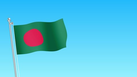 Rise of Bangladesh flag . Bangladesh flag