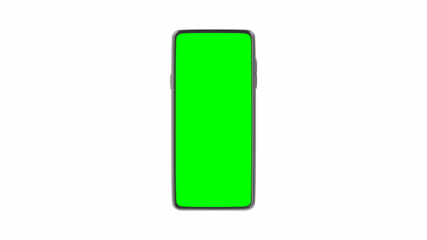 Smartphone with green screen on white background | Shutterstock HD Video #1033597373