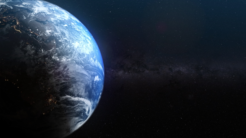 Seamless realistic Earth rotation with night and day   Shutterstock HD Video #1033707413
