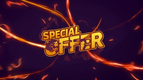 Special offer Sale Promo Banner Special Offer animation. Sale Campaign Red Price Tag. Discount Animation text and colored cloud