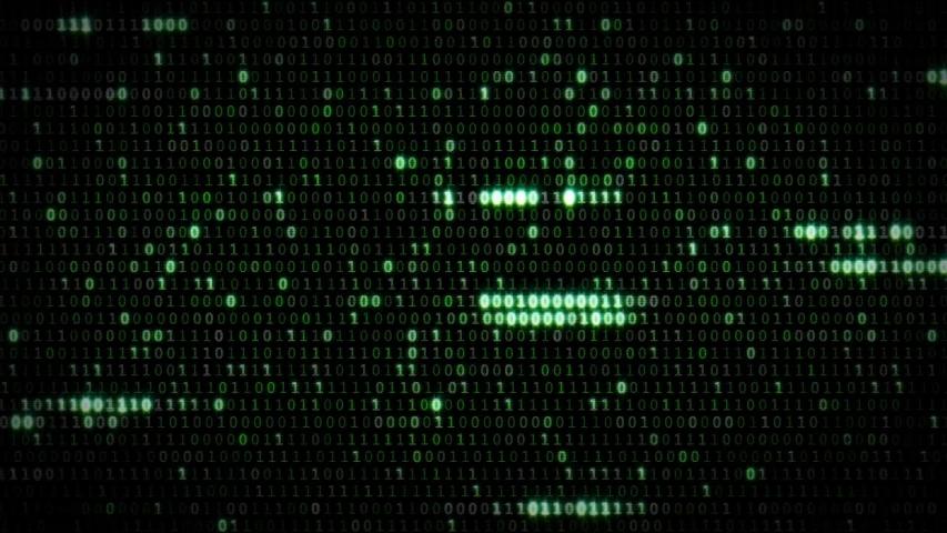 Matrix number code loop 4k | Shutterstock HD Video #1033981133
