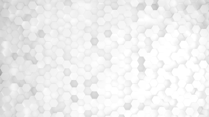 Abstract Honeycomb Background Loop wide angle. Light, minimal, clean, moving hexagonal grid wall with shadows. Loopable | Shutterstock HD Video #1033994213