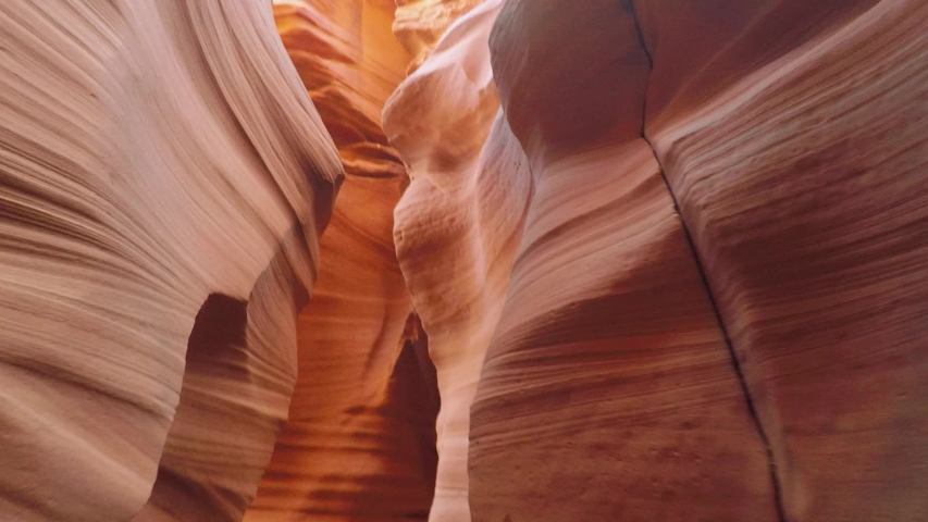 Walking through Antelope Canyon in Arizona. No people | Shutterstock HD Video #1034411903