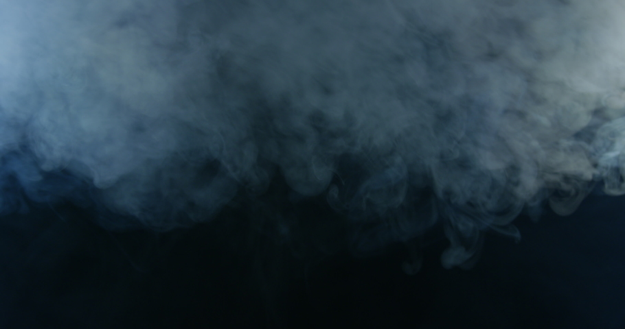 Fog Falling On Black Background With White Smoke Cloud Floating On Dark Backdrop | Shutterstock HD Video #1034430293