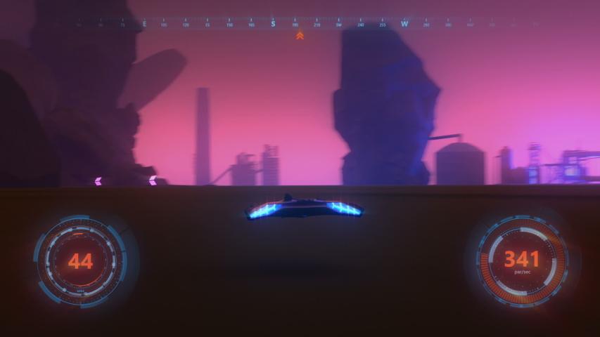 3d fake Video Game. Sci-Fi neon racing gameplay. Part2. | Shutterstock HD Video #1034463293