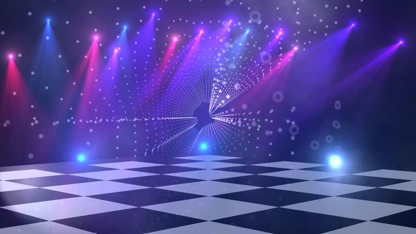 Virtual Dance Floor Disco Lights Background 4 For Titles