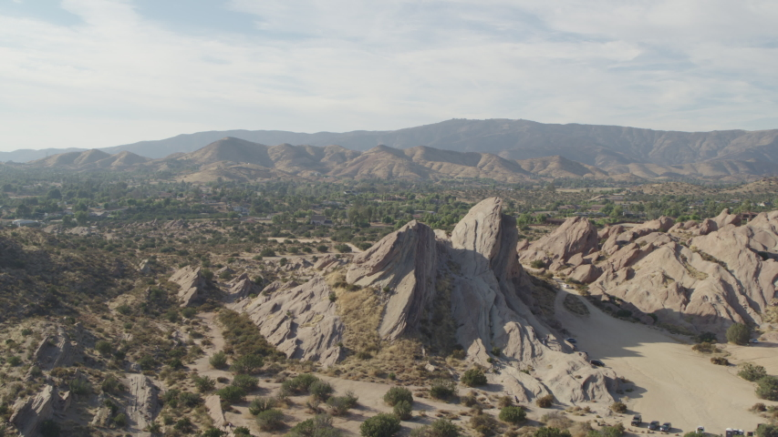 Desert Rock Formation Aerial Shot with Inspire 2 Zenmuse X7, ProRes 4444, 23.97fps - 8/3/2019 | Shutterstock HD Video #1034635283