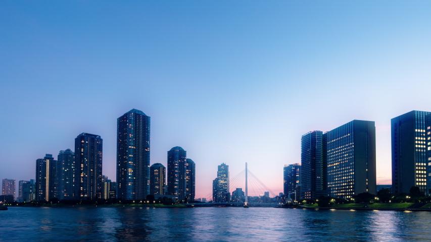 Time lapse of urban city skyline.   Shutterstock HD Video #1034889683