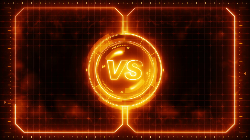 Futuristic sports game loop animation. Versus fight background. Radar neon digital display. VS. Game control interface element. Battle fight sports competition. | Shutterstock HD Video #1035187253