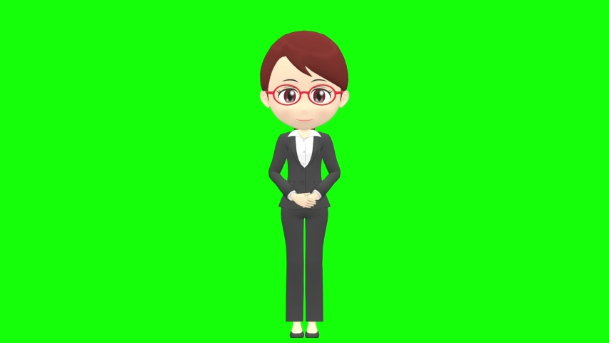 [Presentation A] Woman B suit front whole body | Shutterstock HD Video #1035326783