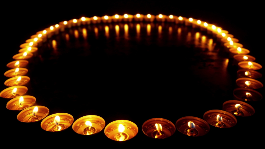 Lots of candles with shallow depth.   Shutterstock HD Video #1035426503